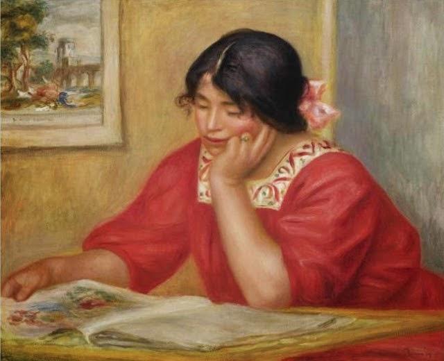 Pierre-Auguste Renoir (1841-1919) Girl Reading (1909)