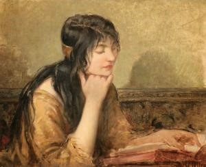 Henri Mottez (1858-1937) ‑ Girl reading