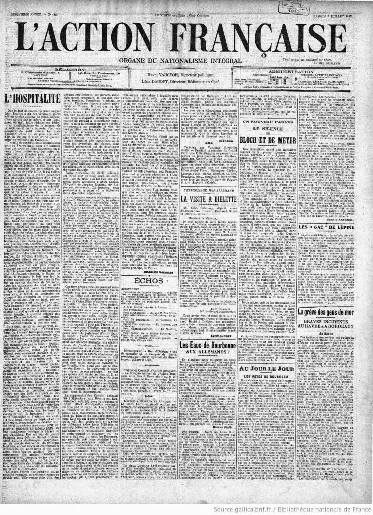 L'Action française (1912), Organe du Nationalism Integral