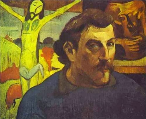 Paul Gauguin, Self-Portrait with the Yellow Christ (1890)