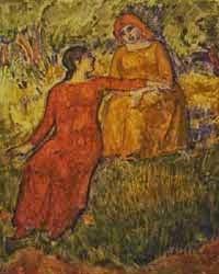 Jan Verkade -Two women in a field(ca. 1892)