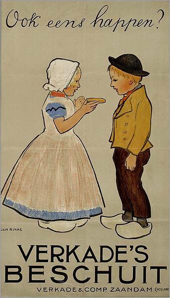 Jan Rinke -Advertisment for Verkade's biscuits(ca. 1900)
